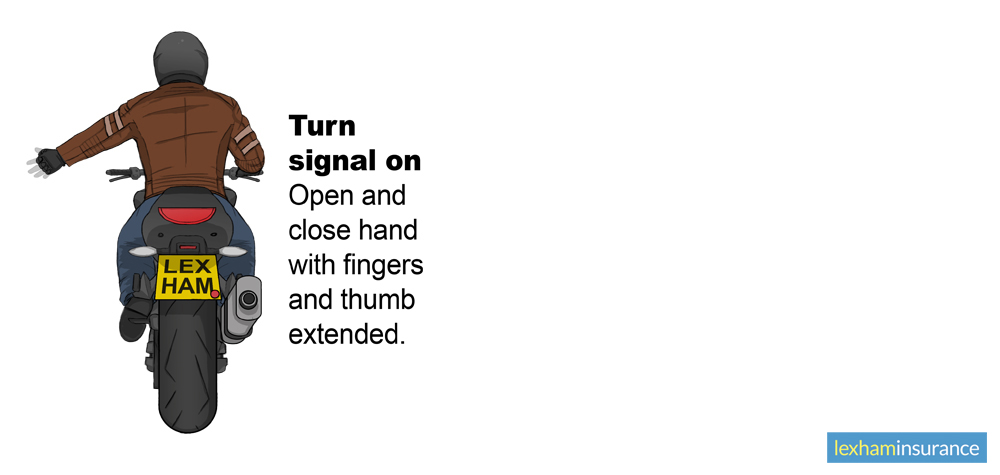 Turn signal on