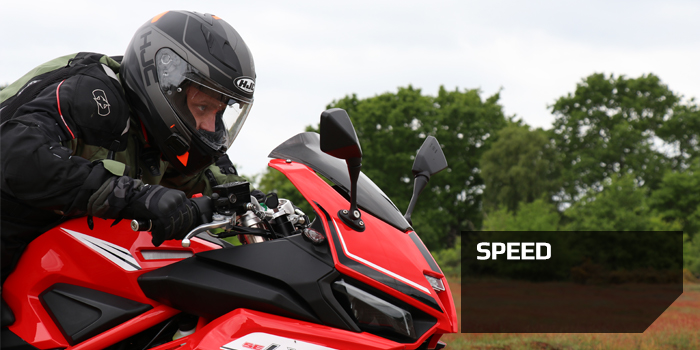 Motorcycle Speed there is no need for excessive speed