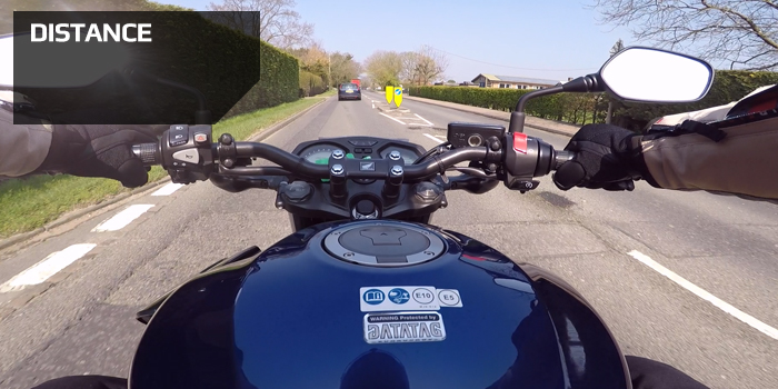 Motorcycle following Distance only a fool breaks the 2 second rule