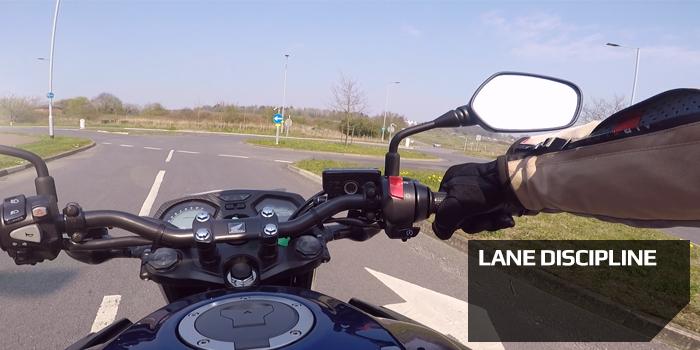Motorcycle Lane Discipline stay in your lane