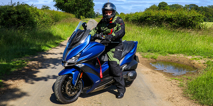 Kymco Xciting S 400i Maxi Scooter review - road test 1
