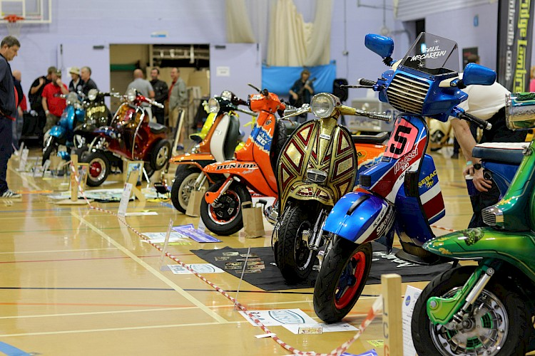 Over 100 Scooters Vespa and Lambretta attended ScooterExpo 2019