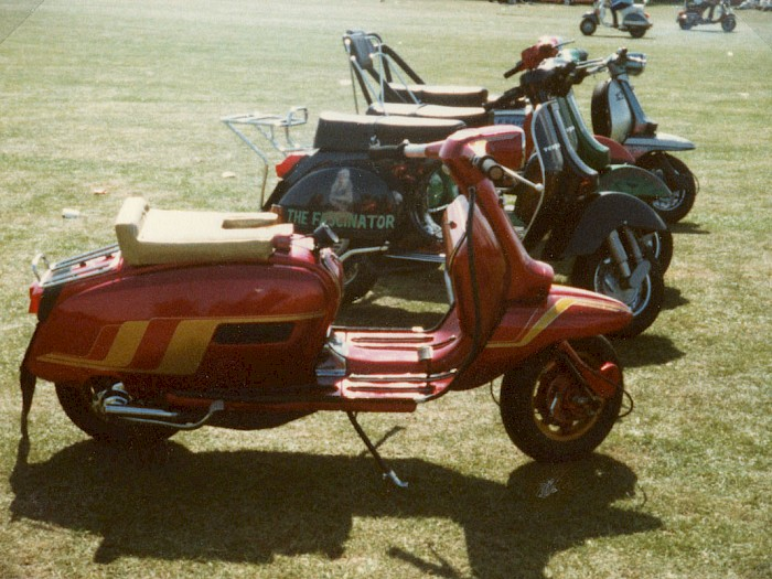 Scooters at Isle of Wight Rally 1983